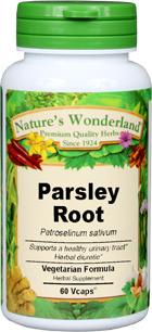 Parsley Root Capsules - 650 mg, 60 Veg Capsules (Petroselinum sativum)
