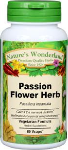 Passionflower Capsules - 475 mg, 60 Veg Capsules (Passiflora incarnata)