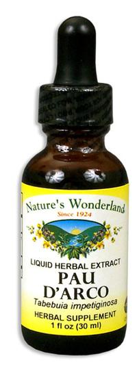 Pau D'Arco Bark Liquid Extract, 1 fl oz / 30ml  (Nature's Wonderland)