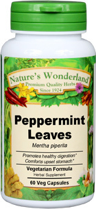 Peppermint Leaves Capsules - 425 mg, 60 Vcaps™ (Mentha piperita)