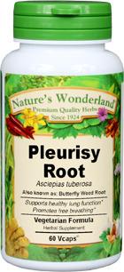 Pleurisy Root Capsules - 650 mg, 425 mg, 60 Veg Capsules  (Asclepias tuberosa)