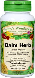 Lemon Balm Capsules - 475 mg, 60 Vcaps™  (Melissa officinalis)