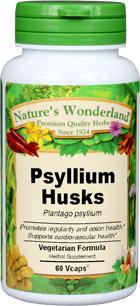 Psyllium Husks Capsules - 750 mg, 60 Veg Capsules  (Plantago psyllium)