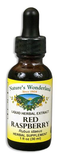Red Raspberry Liquid Extract - Rubus idaeus, 1 fl oz / 30 ml  (Nature's Wonderland)