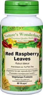 Red Raspberry Leaf Capsules - 500 mg , 60 Veg Caps (Rubus idaeus)