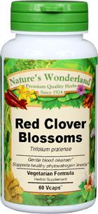 Red Clover Blossoms Capsules - 450 mg, 60 Veg Capsules (Trifolium pratense)