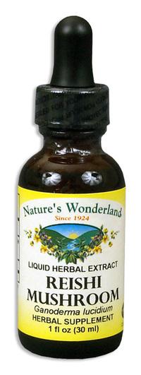 Reishi (Ganoderma) Mushroom Extract, 1 fl oz / 30ml  (Nature's Wonderland)