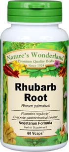 Rhubarb Root Capsules - 650 mg, 60 Veg Capsules (Rheum palmatum)