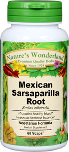 Sarsaparilla Root, Mexican, Capsules - 575 mg, 60 Vcaps™ (Smilax spp.)