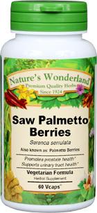 Palmetto Berries Capsules - 700 mg, 60 Veg Capsules (Serenoa serrulata)