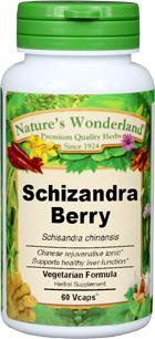 Schizandra Berry Capsules - 650 mg, 60 Veg Capsules (Schisandra chinensis)