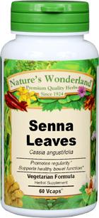 Senna Leaf Capsules - 550 mg, 60 Vcaps™ (Cassia angustifolia)