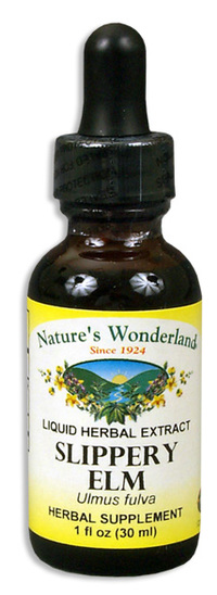 Slippery Elm Liquid Extract, 1 fl oz / 30ml  (Nature's Wonderland)