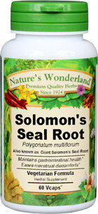 Solomon Seal Root Capsules - 500 mg, 60 Veg Capsules (Polygonatum multiflorum)