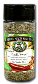 Basil, Sweet - Crushed, 0.7 oz