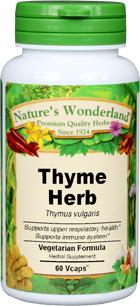 Thyme Capsules - 450 mg, 60 Veg Capsules (Thymus vulgaris)