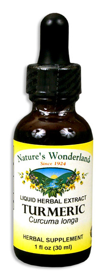 Turmeric Liquid Extract, 1 fl oz / 30ml (Nature's Wonderland)