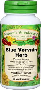 Blue Vervain Capsules - 450 mg, 60 Veg Capsules (Verbena spp.)