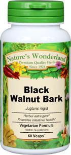 Black Walnut Bark Capsules - 475 mg, 60 Vcaps™ (Juglans nigra)