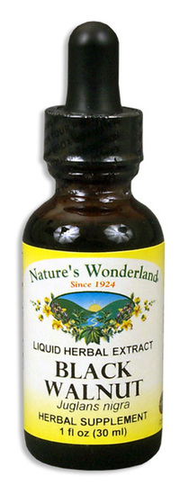 Black Walnut Hulls Liquid Extract, 1 fl oz / 30ml  (Nature's Wonderland)
