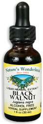 Black Walnut Hulls Extract, Alcohol Free, 1 fl oz / 30ml (Nature's Wonderland)
