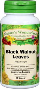 Black Walnut Leaves Capsules - 550 mg, 60 Vcaps™