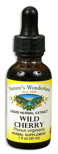 Wild Cherry Bark Liquid Extract, 1 fl oz / 30ml  (Nature's Wonderland)