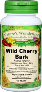 Wild Cherry Bark Capsules - 575 mg,  60 Vcaps™  (Prunus serotina)