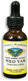 Wild Yam Root Liquid Extract, 1 fl oz / 30ml  (Nature's Wonderland)