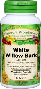 White Willow Bark Capsules - 400 mg, 60 Veg Capsules (Salix alba)