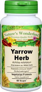 Milfoil Herb Capsules - 350 mg, 60 Veg Capsules  (Achillea millefolium)