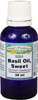 Basil Essential Oil, Sweet - 30 ml  (Ocimum basilicum)