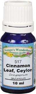 Cinnamon Leaf Essential Oil, Ceylon -10 ml (Cinnamomum zeylanicum)