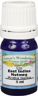 Nutmeg Essential Oil, East Indian - 5 ml (Myristica fragrans)