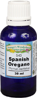 Oregano Essential Oil, Spanish - 30 ml (Thymus capitatus)