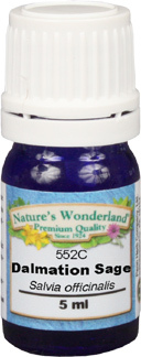 Sage Essential Oil, Dalmatian - 5 ml (Salvia officinalis)