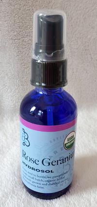 Rose Geranium Hydrosol, 60 ml / 2 oz (Barefoot Botanicals)