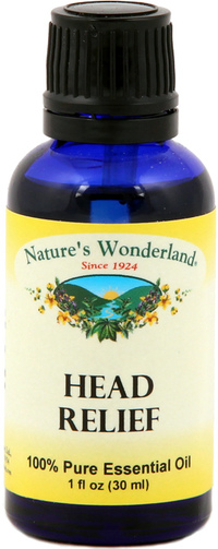 Head Relief Essential Oil Blend, 30 ml (Nature's Wonderland)