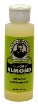 Almond Oil - Pure, 4 fl oz / 118ml (Uncle Harry's)