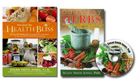 Recipes for Health Bliss by Susan Smith Jones, Ph.D. + FREE Culinary Herbs Booklet With CD