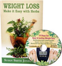 Weight Loss: Make It Easy with Herbs by Susan Smith Jones, Ph.D. Plus Bonus CD