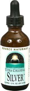 Ultra Colloidal Silver Liquid - 10 ppm, 2 fl oz / 59.14 ml (Source Naturals)