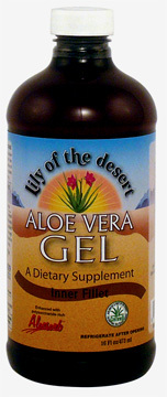 Aloe Vera Gel - Inner Fillet, 16 fl oz / 473ml (Lily of the Desert)