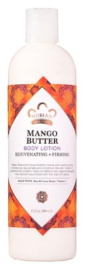 Mango Butter Body Lotion, 13 fl oz / 384 ml (Nubian Heritage)