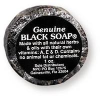 Black Soap Bar, 1 oz bar  (African Formula)
