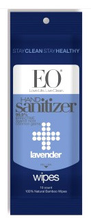 EO® Hand Sanitizer Wipes - Lavender, 10 Count (EO Products)