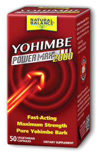 Yohimbe PowerMax® 2000, 50 vegetarian capsules (Action Labs)