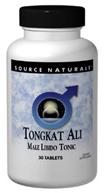 Tongkat Ali Extract/ Long Jack - 80 mg, 30 tablets (Source Naturals)