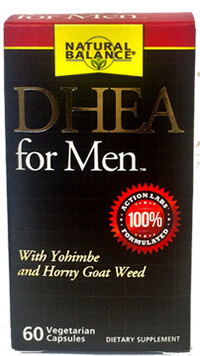 DHEA For Men, 60 vegetarian capsules (Natural Balance)