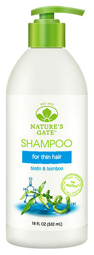 Biotin + Bamboo Shampoo, 18 fl oz / 532 ml (Nature's Gate)
